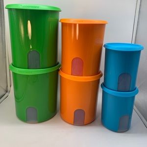 Tupperware  One Touch Reminder 6- PC Canisters